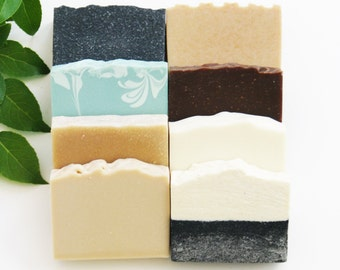 Soap Gift Set | Eight Artisan Cold Process Hand and Body Wash Bars Pack, Handmade, Natural Homemade Wedding Favors, Mix and Match Bulk Order