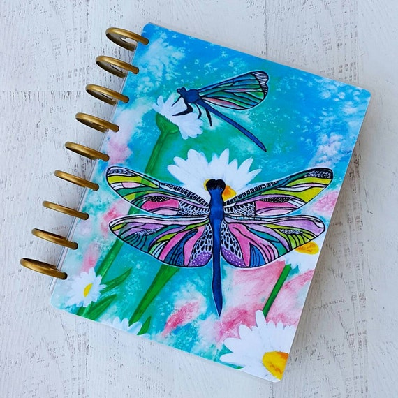 Happy Planner Cover - Dragonfly Planner - Planner Accessories - 365 Happy  Planner Cover - Disc Bound Accessories - Laminated Planner Cover