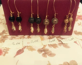 Swarovski Hand made crystal earrings