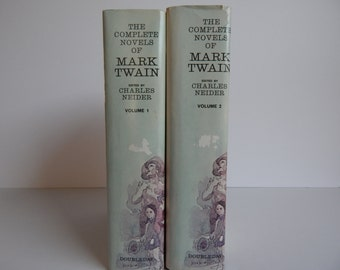 The Complete Novels of Mark Twain / Hard Cover with Dust Jackets / Complete 2 Volume Set
