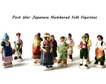 Instant Collection Miniature Porcelain Doll  Folk Figurines  / European Country Costumes Collectible Souvenir Figures