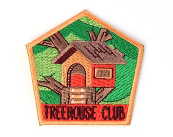 Treehouse Club Iron On Patch