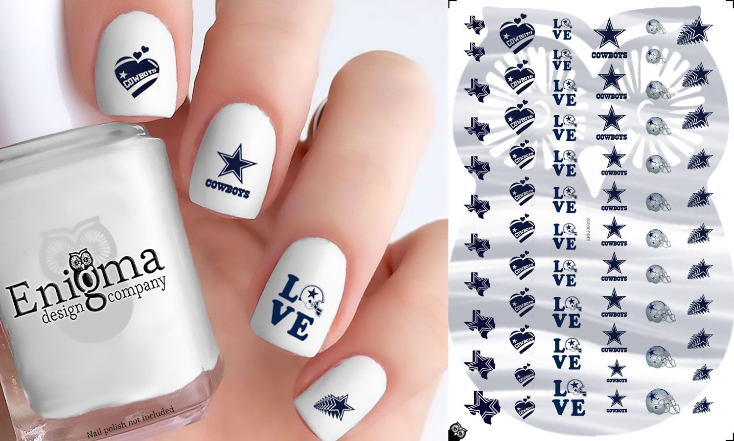 Dallas Cowboys Nail Decals Vol I Set of 66