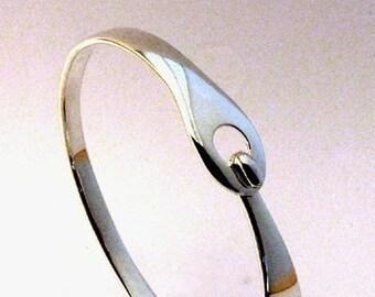 Sterling Bracelet, Straight Latch