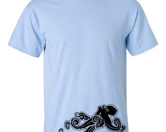 CLEARANCE, Octopus TShirt, Octopus T Shirt, Funny Tshirt, Ocean Animal T Shirt, Octopus Tee, Nautical sm-5xl plus size