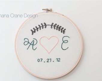 True Love . Custom Embroidery Hoop