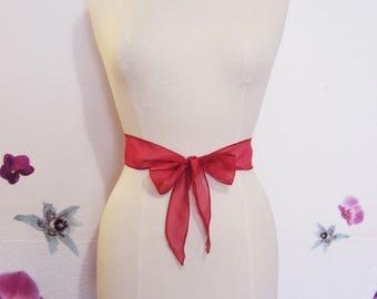 Red chiffon headband or tie belt