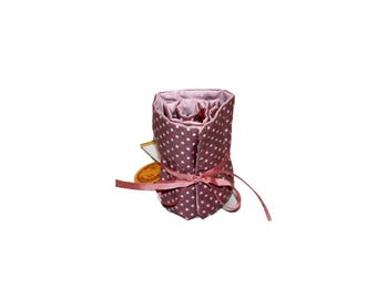 Pink Spotted Crayon Roll, crayon roll holder, crayon roll, crayon storage, storage, crayon case