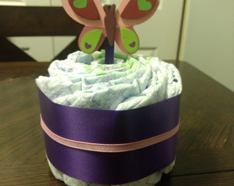Mini butterfly Diaper Cake