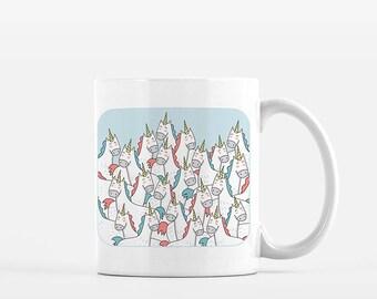 Unicorn Coffee Mug Unicorn Mug Unique Unicorn Gift Unicorn Lover Mug Fun Mug Unicorn Lovers Gift for Unicorn Lover Lots of Unicorns Mug Gift