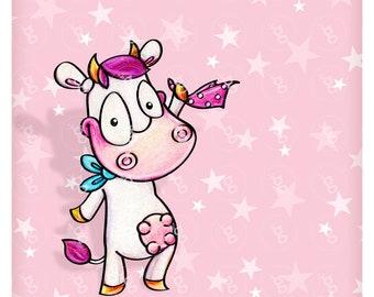 """Digi Stamp """"cow-Goodbye"""" v2"""