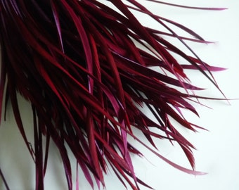 GOOSE BIOT FEATHERS, Black Berry , Wine Red, Merlot,  Burgundy / 708