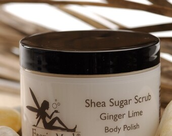 Natural Shea Sugar Scrub Ginger Lime vegan