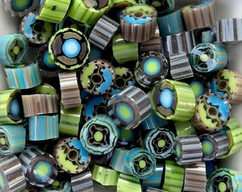 COE 104 Chocolate Mint by Lori and Kim Murrini Millefiore Murrine