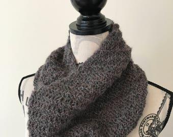 100% alpaca wool cowl hand-knit