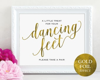 Gold Dancing Feet Sign, Dancing Shoes Sign, Please Take a Pair, Wedding Dancing, Wedding Printable, PDF Instant Download, MM01-3