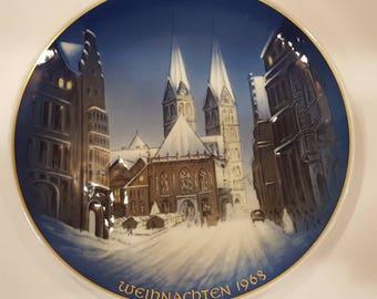 Rosenthal 1968 Christmas Plate Georg Kuspert Weihnachten