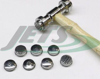 Texturing Hammer with 9 Faces Heads Design Texture Metal Work Tool Set (E13)
