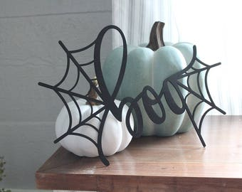 boo Sign Wreath Making Supplies Halloween Wreath Supplies Spider Web Sign