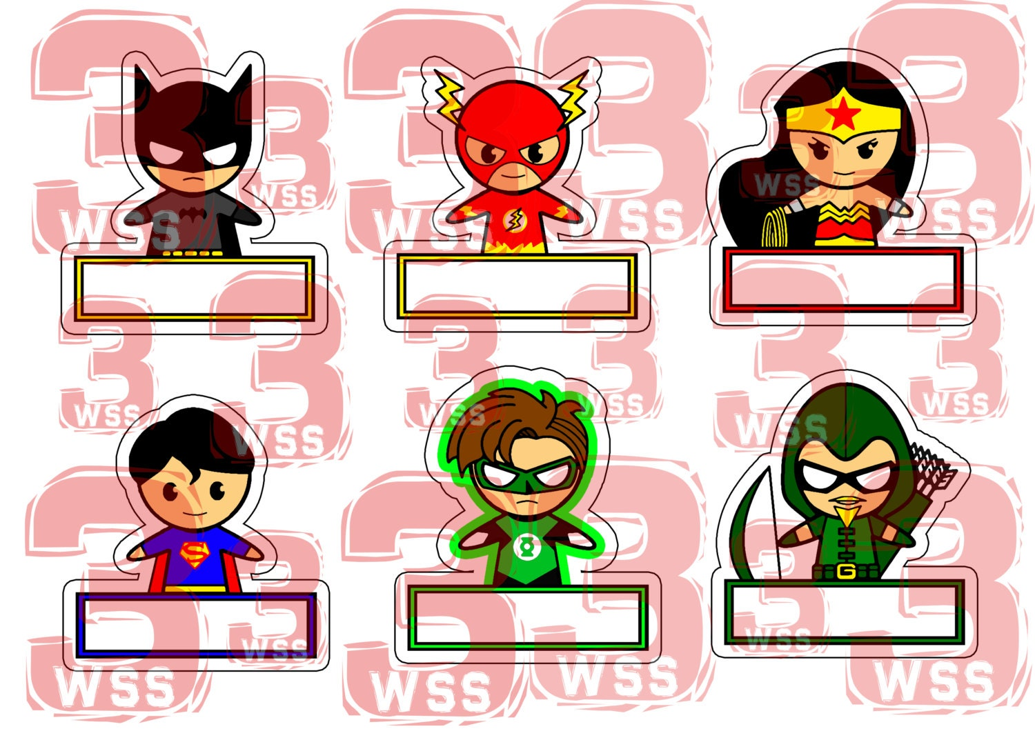 Name Tags Superhero Templates As Toppers Or Stickers For - Name tag templates