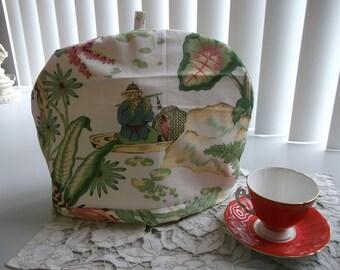 Tea Cosy or Cozy Botanical Print and Monkey Tea Cosy  Vintage Tea Cosy Tea Cozy Tea Pot Cover