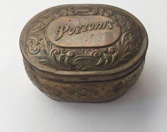 1912 Pozzoni's Powder Tin