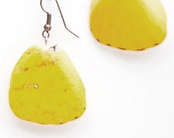 Large Orange Sulfur Butterfly Earrings