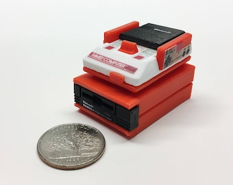 Mini Nintendo Famicom deluxe set - 3D Printed!