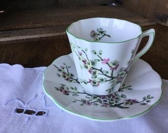 Rosina, Bone China, Made in England, cherry blossom floral pattern