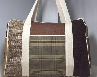 Baabaazuzu Weekender Bag : Cotton Overnight Bag with Pattern