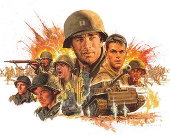 Saving Private Ryan, Saving Private Ryan Print, Saving Private Ryan Wall Art, Saving Private Ryan Art, Saving Private Ryan Movie Prints