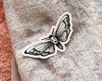 No Face Moth Sticker