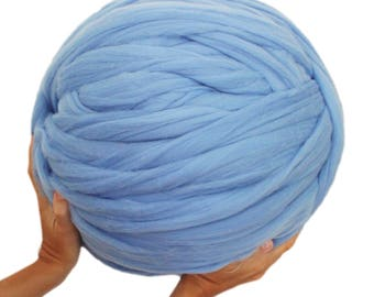 Ball of wool merino chunky super xxl. Blue horizon. 2 kilos