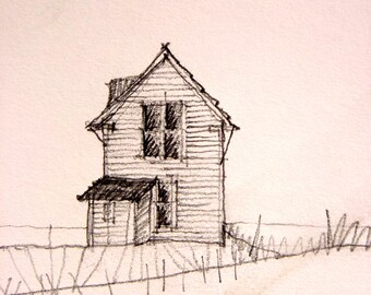 pencil drawing of house, sketch, original drawing, original pencil drawing, house, architecture, hand drawn sketch of house, renderings