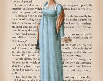 Jane Austen Art - Elizabeth Bennet - 5 x 7 print
