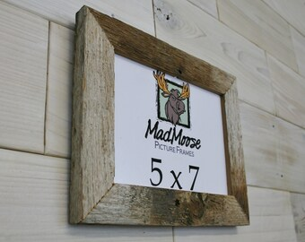 """5x7 BarnWood [Thin x 1.25""""] Picture Frame"""