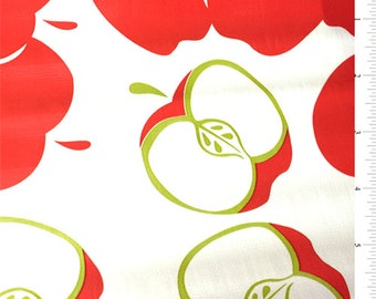 Apple Oilcloth, Fabric By The Yard