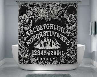 Shower Curtain, Ouija Board, Spirit Board, Bath Decor, Goth, Gothic, Ghost  Gift, Ghost Hunter, Christmas Gift, Halloween Decor, Bad Tiki
