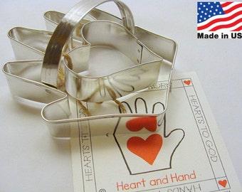 Hand and Heart 2 Piece Cookie Cutter by Ann Clark