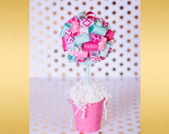 BABY SHOWER CENTERPIECE / Pink and gold first birthday centerpiece / Graduation party centerpiece / First communion centerpieces /