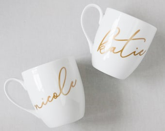 Personalized Mug, Bridesmaid Gifts, Custom Mugs, Gifts for Her, Name Mug, Calligraphy, Unique Coffee Mugs, Gifts Under 20, Gifts for Her
