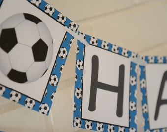 Soccer banner, happy birthday banner, soccer party, soccer, world cup party, birthday banner, 1st birthday