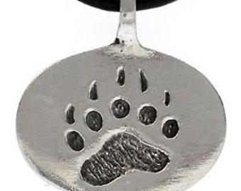 Pewter Bear Claw Paw LGBT Gay Pride Pendant (21D)