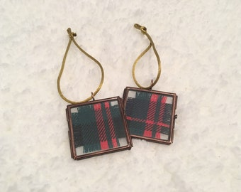 Scottish Tartan Favor, MacDonald Tartan, Wedding Favor, Tartan Keepsake, Christmas Ornament, Tartan Locket
