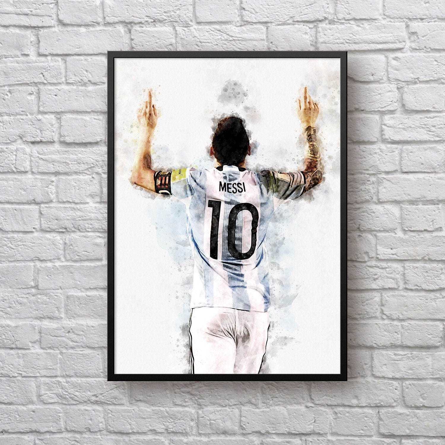Messi Poster, Argentine National Football Team, Football Fan Gift, 2018