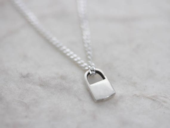 lock necklace pendant white ponte gold love padlock rose vecchio gioielli