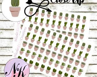 55 succulent Stickers, Stickers, succulent sticker, use with Erin Condren Planner(TM), Happy Planner, planner, Sticker, Traveler Notebook
