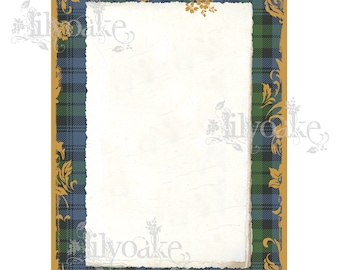 Ancient Campbell Tartan Panel Card