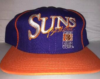 Vintage Phoenix Suns snapback hat cap nba basketball 90s nwt deadstock charles barkley Booker MADE IN USA