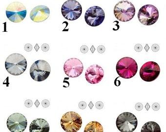 2 pcs Swarovski Crystal Rivoli Size 6.14mm-6.32mm  1122 Rivoli SS 29
